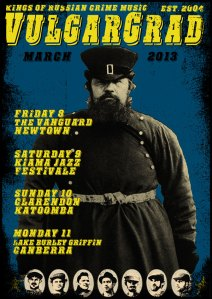 March 2013 NSW tour poster